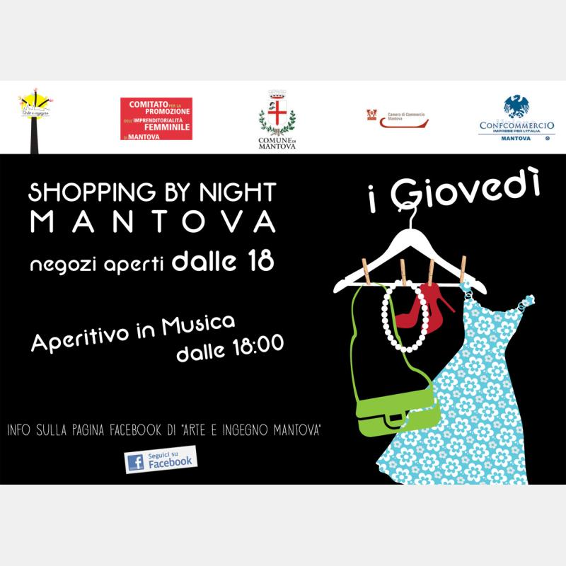 Domani debutta Shopping by night Mantova: il programma